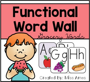 Functional Word Wall - Grocery Words