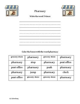 Functional Words - Community Places Set 1