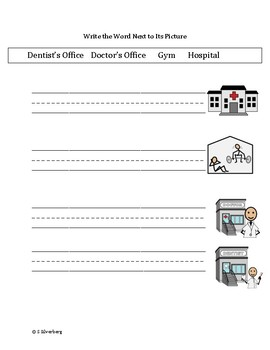 Functional Words - Community Places Set 2 (health)