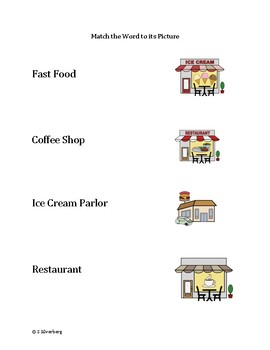 Functional Words - Community Places Set 4 (food)