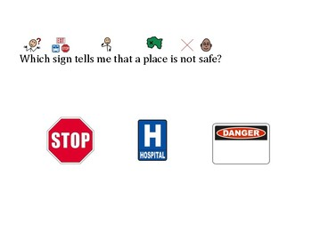 Functional Words Comprehension- Hospital, Stop, Danger