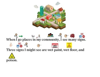 Functional Words- Survival Signs Comprehension- Wet Floor, Wet Paint, Poison