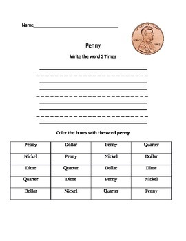 Functional Words- Money