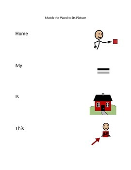 Functional Words (My, This, A, Is, Home) from PCI My Home
