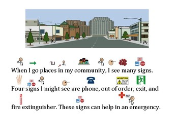 Functional Words - Survival Signs -Phone, Out of Order, Exit, Fire Extinguisher