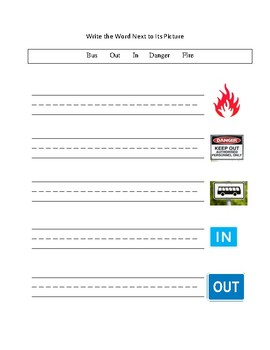 Environmental Print/Community Signs- Functional Word Packet (special ed)