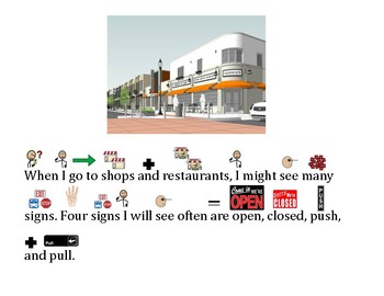 Functional Words - Survival Signs Comprehension Open, Closed, Push, Pull