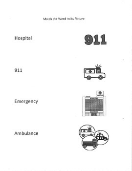Functional Words- at the hospital