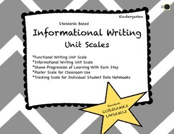 Informational Writing: Kindergarten Learning Scale