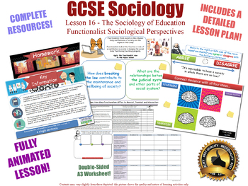 Functionalist Views - Education (GCSE Sociology - L16/20) Functionalism
