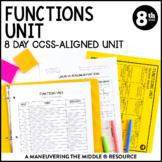 8th Grade Math Functions Unit: 8.F.1, 8.F.2, 8.G.3, 8.F.4