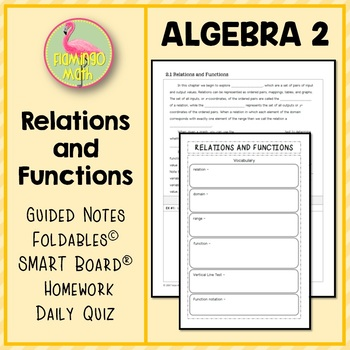 Relations And Functions Foldable Worksheets Teaching
