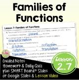 Families of Functions (Algebra 2 - Unit 2)