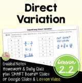 Algebra 2: Direct Variation