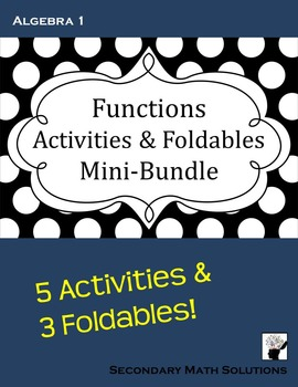 Functions Activities & Foldables Bundle