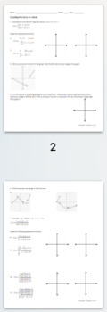 Functions Activities, Practice, and Review BUNDLE