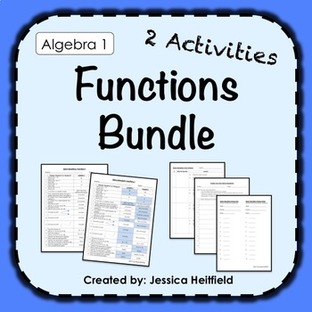 Functions Activity Bundle: Fix Common Mistakes!