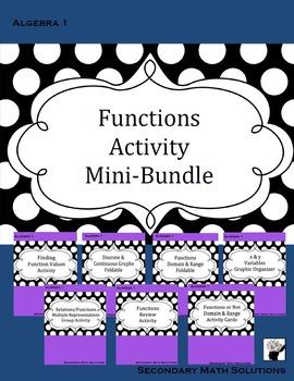 Functions Activity Mini-Bundle