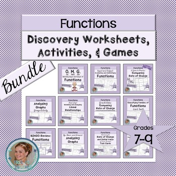 Functions Discovery Worksheets, Activities, and Games