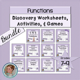 Functions Discovery Worksheets, Activities, and Games Bundle