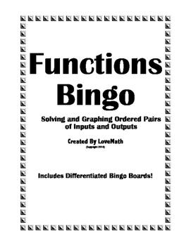 Functions Bingo