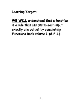 Functions Book Volume 1