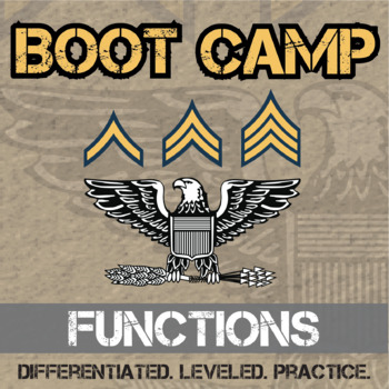 Functions Boot Camp -- Differentiated Practice Assignments