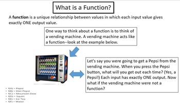 Functions Bundle (PowerPoint Lessons & Printables!)