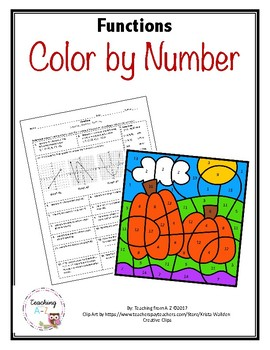 Functions Color by Number Activity - Distance Learning