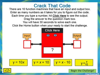Functions: Crack That Code NO PREP