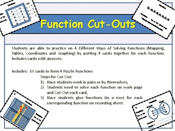 Functions!  Cut-Outs