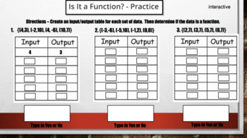 Functions – Digital Interactive Notebook for Google Classroom