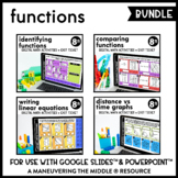 Functions Digital Math Activity Bundle | 8th Grade Math Di