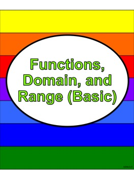 Functions Domain Range (Basic)