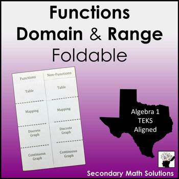 Functions Foldable (A12A)