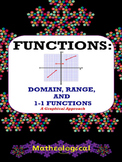 Functions - Domain, Range, and 1-1 (one-to-one) Functions FREEBIE