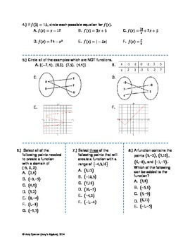 Functions, Domain, and Range