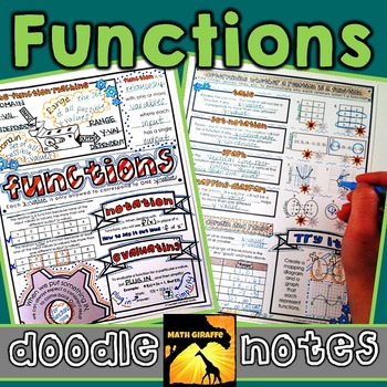 Functions Doodle Notes