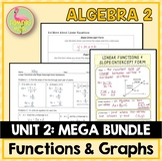 Functions Equations Graphs MEGA Bundle (Algebra 2 - Unit 2)