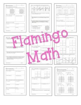 Algebra 2: Functions Equations & Graphs Homework Bundle