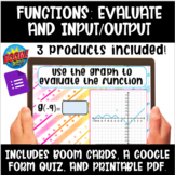 Functions: Evaluate and Input/Output Boom Cards, Google Qu
