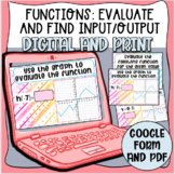 Functions: Evaluate and Input/Output Task Cards (Digital a