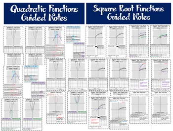 Function Families Bundle - Guided Notes