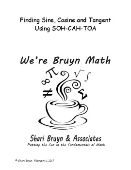 Functions - Finding Sine, Cosine and Tangent using SOH-CAH-TOA