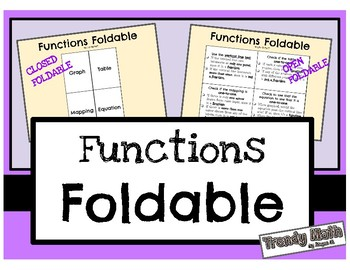 Functions Foldable