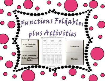 Functions Foldables plus Activities
