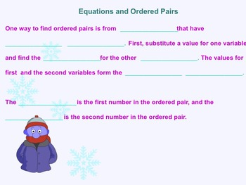 Functions, Function Notations, Equations and Tables Smartboard Notes/Assgn