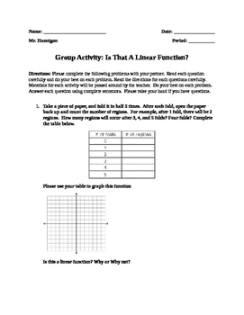 Functions Group Activity