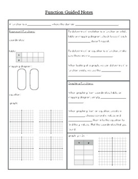 Functions Guided Notes