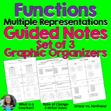 Functions Guided Notes Graphic Organizer